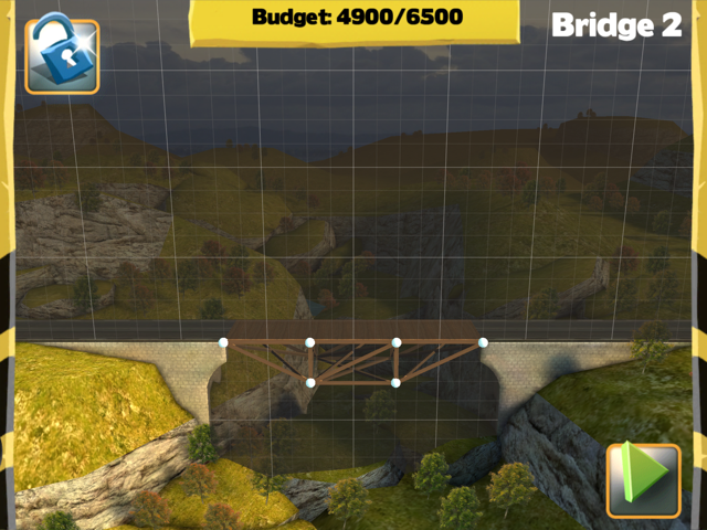Picture of Bridge Constructor Walkthrough - Westlands - Bridge 2 Imagen Bridge Constructor Tutorial - Westlands - Puente 2