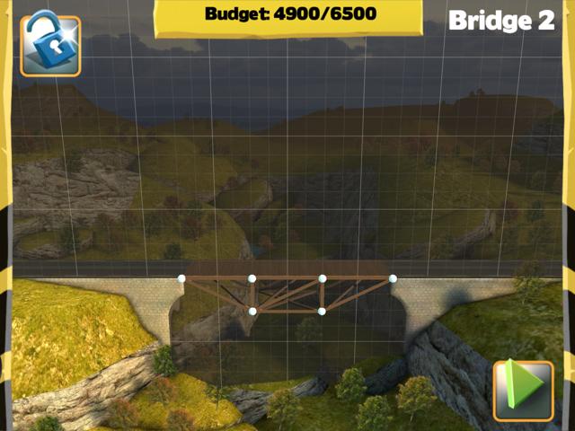 Picture of Bridge Constructor Walkthrough - Westlands - Bridge 2 Imagen Bridge Constructor Tutorial - Westlands - Puente 2