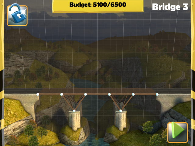 Picture of Bridge Constructor Walkthrough - Westlands - Bridge 3 Imagen Bridge Constructor Tutorial - Westlands - Puente 3