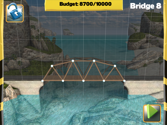 Picture of Bridge Constructor Walkthrough - Westlands - Bridge 8 Imagen Bridge Constructor Tutorial - Westlands - Puente 8
