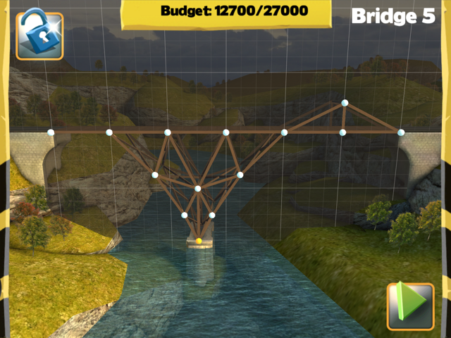 Picture of Bridge Constructor Walkthrough - Westlands - Bridge 5 Imagen Bridge Constructor Tutorial - Westlands - Puente 5