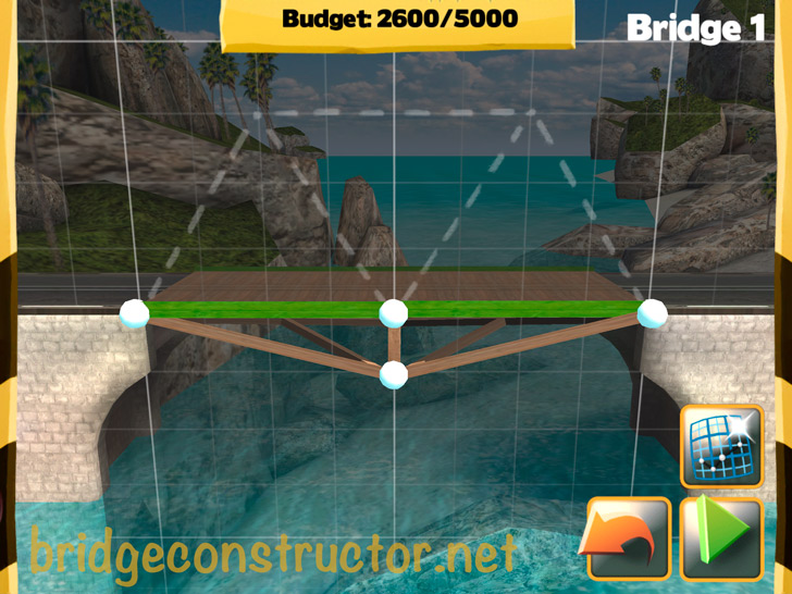 Picture of Bridge Constructor Walkthrough - Westland - Bridge 1